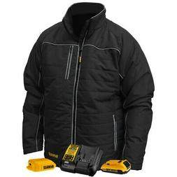 DEWALT DCHJ075D1-L Large Heated Jacket Black Quilted Kit