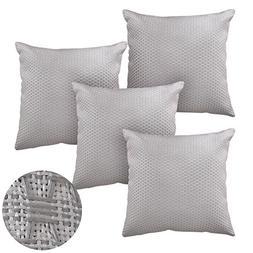 Deconovo Decorative Pillow Cases 18x18 Honeycomb Couch Throw