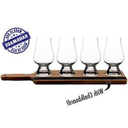 Deluxe Handcrafted Whiskey Flight for Glencairn Whiskey Glas