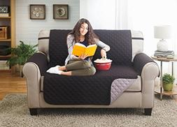 Deluxe Reversible Loveseat Slipcover Furniture Protector, Se