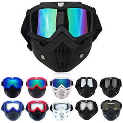 Detachable Safety Goggles Face Mask Anti-UV Wind Dust Glare