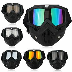 Detachable Safety Face Mask Goggles Anti-UV Wind Dust Glare