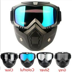 Detachable Safety Glasses Goggles Face Mask Shield Eye Prote