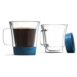 Bolio-Double Wall Glass Mug - Silicone Bottom For More A Bet