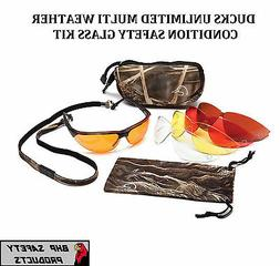PYRAMEX DUCKS UNLIMITED HUNTING/SHOOTING SAFETY GLASSES CHAN