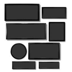 DEMCiflex Dust Filter Kit for Corsair Air 540 , Black Frame,
