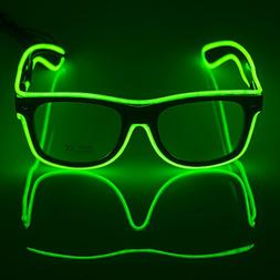 Fronnor El Wire Glow Sun Glasses Led DJ Bright Light Safety