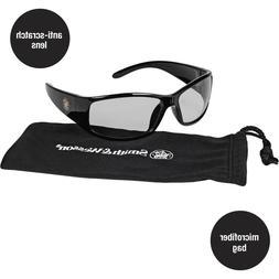 Smith & Wesson Elite Safety Eyewear, Black Frame, Indoor/Out