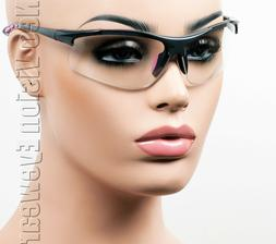 ERB Ella Gray/Pink Clear Lens Safety Glasses Womens Motorcyc