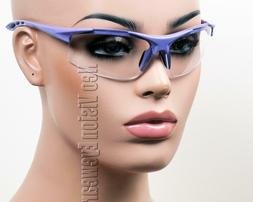 ERB Ella Purple Clear Lens Safety Glasses Womens Motorcycle