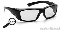 PYRAMEX EMERGE SAFETY GLASSES CLEAR LENS WORK SPORT EYEWEAR