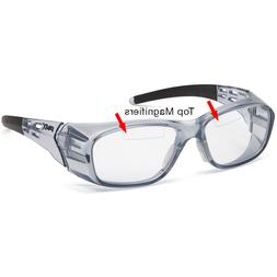 Pyramex Emerge+ Bifocal Safety Glasses, Trans Gray, Clear wi