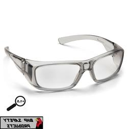 PYRAMEX EMERGE GRAY 1.5 CLEAR FULL MAGNIFYING LENS READER SA