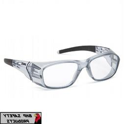 Pyramex Emerge Plus Clear Full Reader Gray Frame Reading Saf