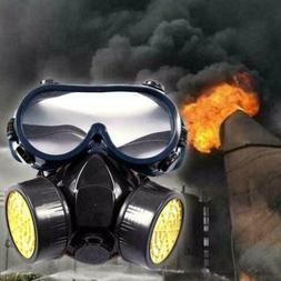 Emergency Survival Safety Respiratory Gas Mask Goggles Dual