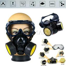 Emergency Survival Safety Respiratory Gas Mask & 2 Dual Prot