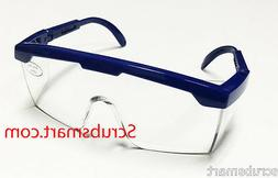 EMI # 411 BLUE Full Frame Adjustable Eyewear Lab Safety Glas