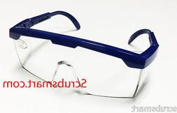 EMI # 411 BLUE Full Frame Adjustable Eyewear Lab Safety Glas