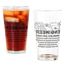 CafePress Engineer Funny Definition Pint Glass, 16 oz. Drink