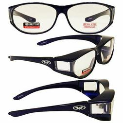 Escort Safety Glasses Fit Over Most Prescription Glasses Blu