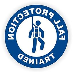 Fall Protection Trained  Full Color Printed Hard Hat Sticker