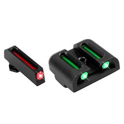 TruGlo Fiber Optic Hand Gun Sights, Red Front and Green Rear