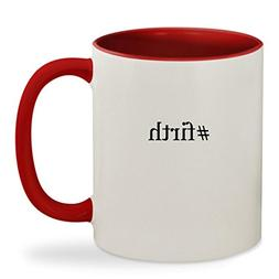 #firth - 11oz Hashtag Colored Inside & Handle Sturdy Ceramic