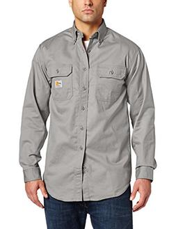 Carhartt Men's Flame Resistant Classic Twill Shirt,Gray,Larg