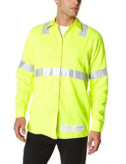 Bulwark Flame Resistant 7 oz Hi-Visibility Work Shirt, Yello