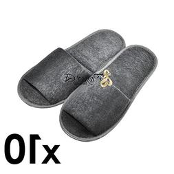 Foldable Towelling Cloth Slipper & Shoe Covers Non-Skid Home