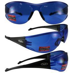 Global Vision Full Throttle Safety Glasses with Black Frame