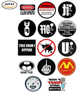 Funny Hard Hat Stickers - BEST SELLER - 14 Decal Value Pack.
