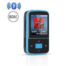 AGPTEK G15 16GB Bluetooth 4.0 MP3 Player, Wearable Clip Supp