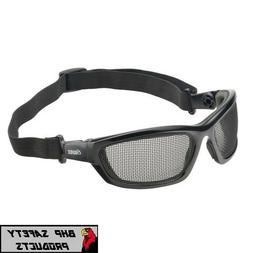 Elvex GG-50 AirSpecs Black Foam Lined Frame Steel Mesh Lens