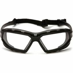 Safety Glasses,Blk/Clear Lens