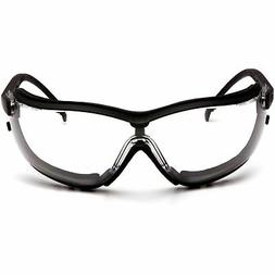 Safety Glasses Black Frame/Clear Anti-Fog Lens