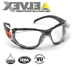 Elvex Go-Specs EVA Foam Lined RX Bifocals, Anti-Fog, PC Lens