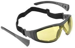 Elvex Go-Specs II Safety Glasses Black Frame, Foam Seal Ambe