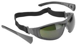 Elvex Go-Specs II Safety Glasses Black Frame, Foam Seal Shad