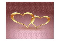 Gold Metal Heart For Valentine Day Jigsaw Puzzle Print 110 P