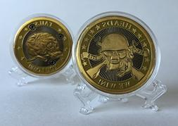 Gold color Collectible Heads We Win Tails you Lose coin toss