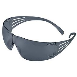 3M Gray Safety Glasses, Scratch-Resistant, Wraparound