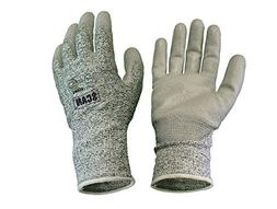 Scan Grey PU Coated Cut 5 Liner Gloves XL