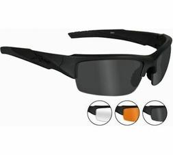 Wiley X 4004 Guard Advanced Glasses Smoke Grey Clear Lenses