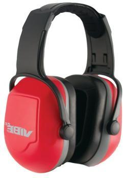 Jackson Safety H70 Vibe Headband Earmuff, NRR 26, Red