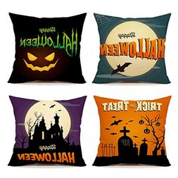 Happy Halloween Black Home Decorative Throw Pillow Case Cush