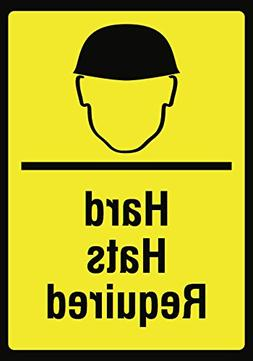 Hard Hats Required Sign - Head Safety Construction Manufactu