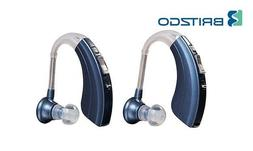 Digital Hearing Amplifiers Qty 2  500hr Battery by Britzgo B