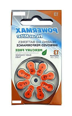 Powermax HearRite Zinc Air Mercury-Free Hearing Aid Batterie