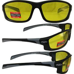 Hercules 5 Safety Glasses Z87.1 YELLOW SHATTERPROOF POLYCARB